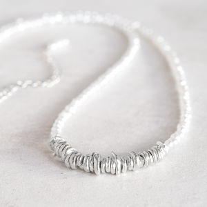 Freshwater Pearl Silver Necklace - wedding fashion