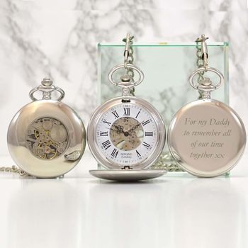 Fathers Day Personalised Pocket Watch Mechanical