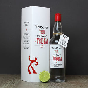 Bottle Of Personalised Vodka