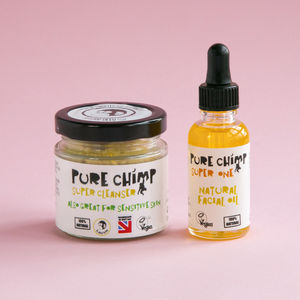 100% Natural Face Care Set / 80g Cleanser And 30ml Oil - gift sets