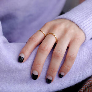 Simple Dainty Stacking Ring Set