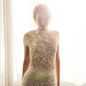 Sheer Lace Wedding Top / 3D Lace - wedding dresses