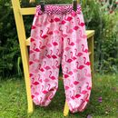 Girls Handmade Flamingo Harem Trousers