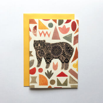 Greeting Card Illustrated Bear