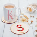 Personalised Cut Out Initial Wooden Coaster