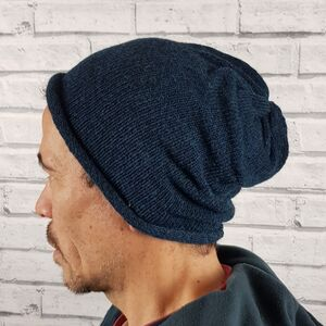 Eco Friendly Beanie Hat Blues
