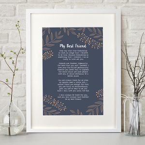 Personalised Poem Print - gifts under £15