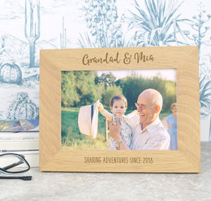 Grandad And Me Personalised Solid Oak Photo Frame