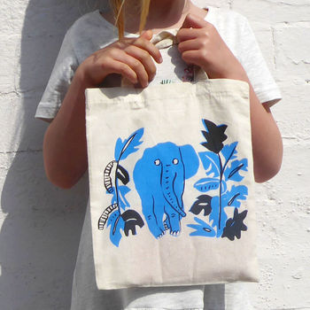 Children's Elephant Tote Bag
