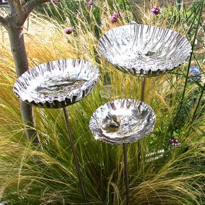 Steel Chalice Birdbath - birds & wildlife