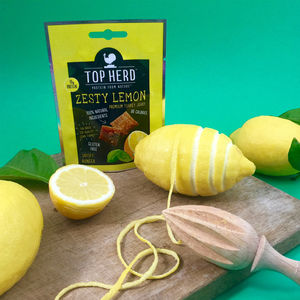 Zesty Lemon Turkey Jerky Eight Snack Packs - savouries