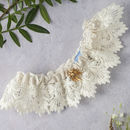 Persephone Guipure Lace Wedding Garter