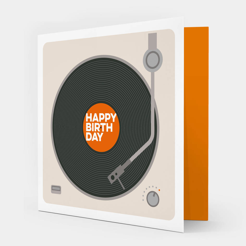 Happy Birthday Record Player Card By Showler And Showler