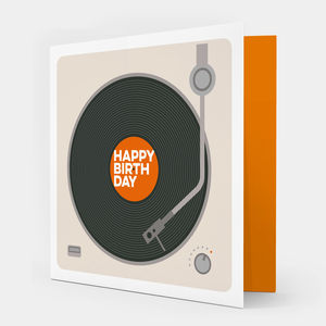 Happy Birthday Record Player Card