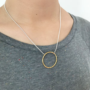 Golden Circle Necklace - necklaces & pendants