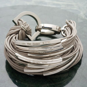 Katia Silver And Thread Bracelet - birthday gifts