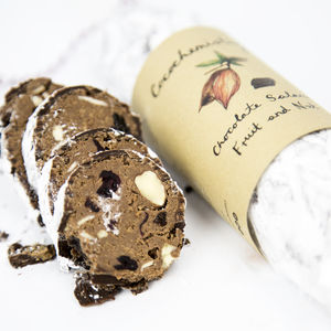 Fruit And Nut Chocolate Salami - chocolates & confectionery
