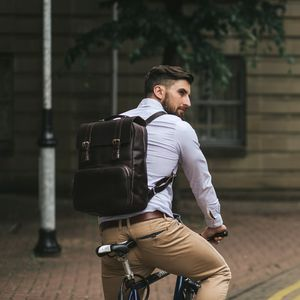 Leather Laptop Backpack Rucksack '' Ribble '' - backpacks