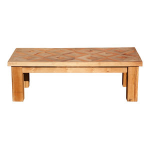British Made Reclaimed Oak And Yew Wood Coffee Table