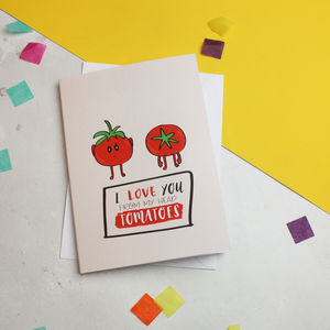 'From My Head Tomatoes' Cute Anniversary Card
