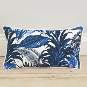 Tropical Palm Print Bolster Cushion - living room