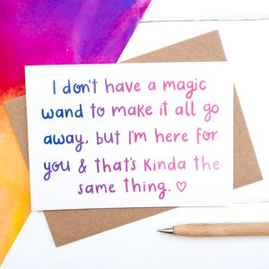 Magic Wand Sympathy Card - cards sent direct