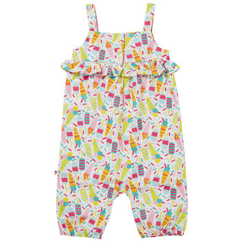 Baby Girls Multicoloured Ice Cream Ruffle Dungarees