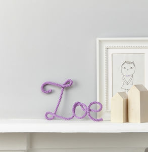 Personalised Name Sign Knit And Wire - personalised gifts