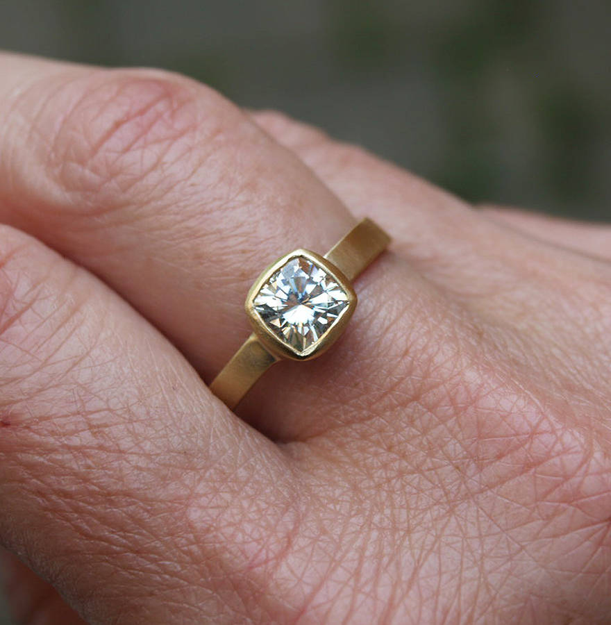 One.5ct Cushion Cut Engagement Ring