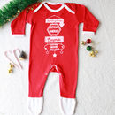 Santa Please Personalised Christmas Sleep Suit Romper