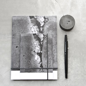 Concrete Cube Texture Notebook