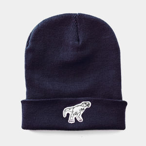 T Rex Dinosaur Embroidered Beanie - whats new