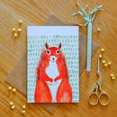 Illustrated Red Squirrel Greeting Card