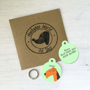 Irish/Fox/Lakeland Terrier Personalised Dog ID Tag - new in pets