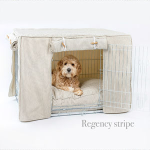 Dog Crate, Cover And Cushion Set Choice Of Four Fabrics