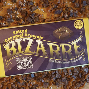 Salted Caramel Brownie Milk Chocolate Bizarre Bar - chocolates & confectionery