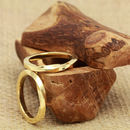 His And His 3mm Square Twist 18ct Gold 'Wen' Rings