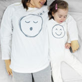Baby Smiley Face Emoji Pyjama Mummy And Me - mother's day