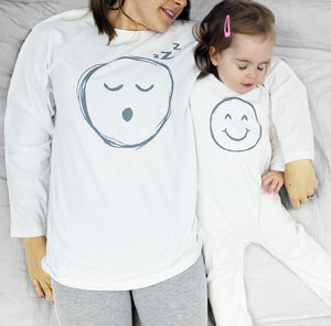 Baby Smiley Face Emoji Pyjama Mummy And Me - 1st mother's day