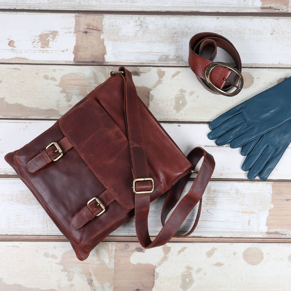 0eb543e57 ashley leather across body messenger bag by the leather store ...