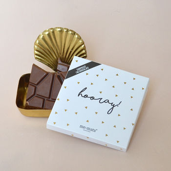 'Hooray!' Sparkle Belgian Milk Chocolate Bar