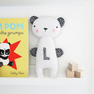 Personalised Bear Soft Toy Rattle - soft toys & dolls