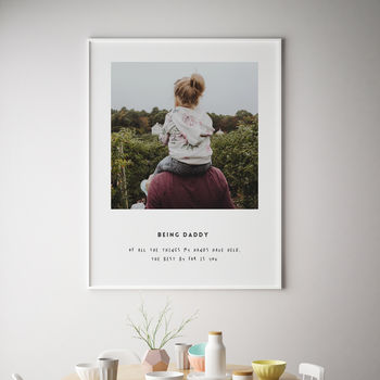 Being Daddy Personalised Fathers Day Print