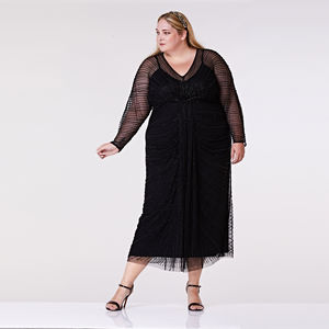 Plus Size Nell Long Sleeve Maxi - dresses