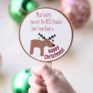 Personalised Christmas Chocolate Teacher Gift - novelty chocolates