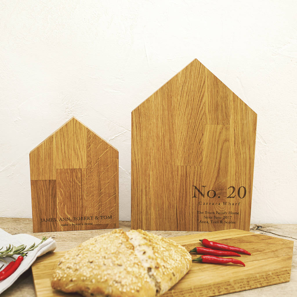 New Home Personalised Oak Chopping Board