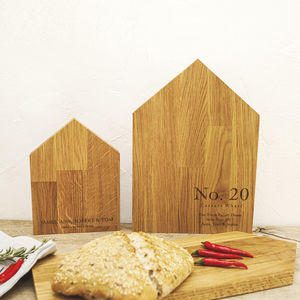 New Home Personalised Oak Chopping Board - chopping boards