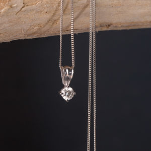 Solitaire Diamond Necklace* - children's jewellery