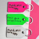 Teacher Gift Child's Handwriting Leather Key Fob