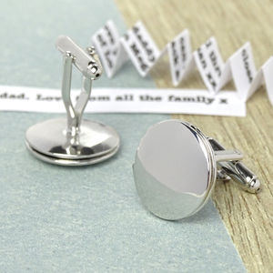 Personalised Message Locket Cufflinks - cufflinks